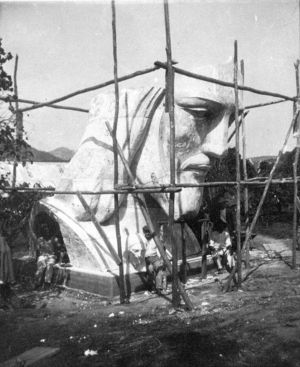 Christ Head Under Construction