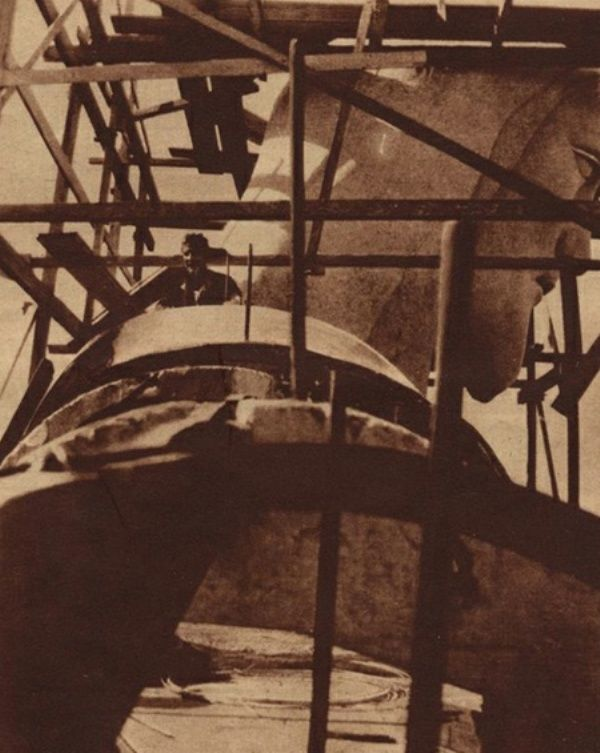 Christ the Redeemer During its Construction