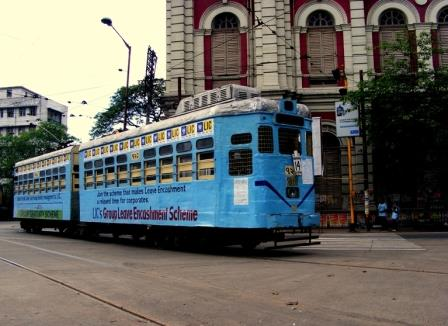Tram running in Kolkata