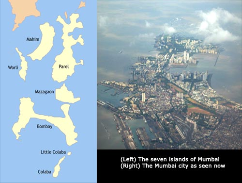 Mumbai made with 7 islands
