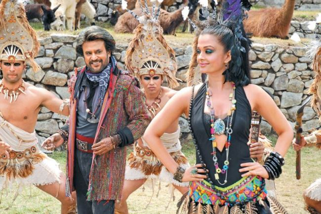 Rajinikanth & Aishwarya Rai at Machu Picchu