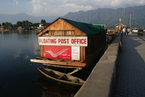 Floating Post Ofice, Dal Lake, Srinagar
