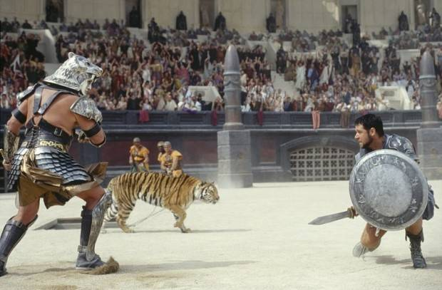 A Gladiator fight scene from the movie Gladiator