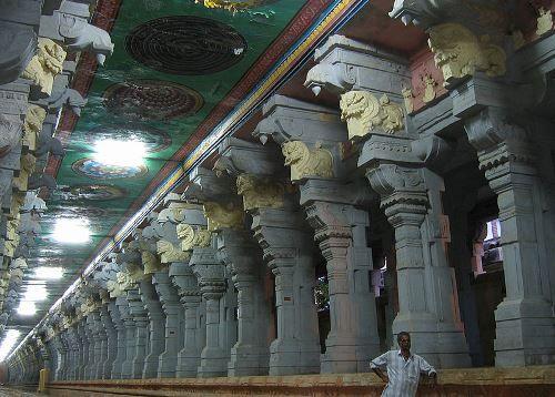 Corridor of Rameswaram Temple