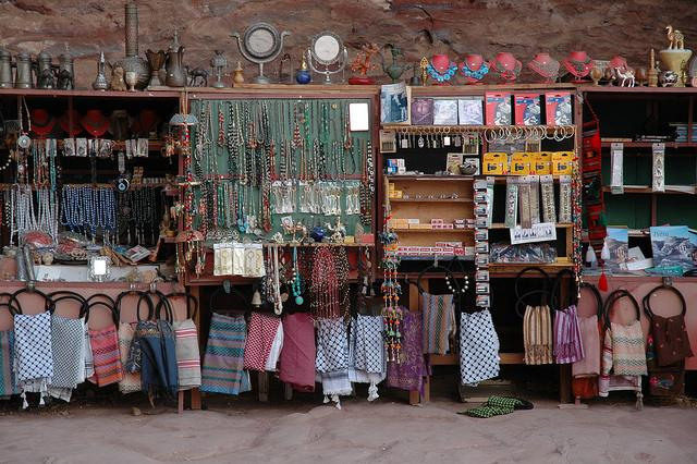 Souvenirs shop at Petra