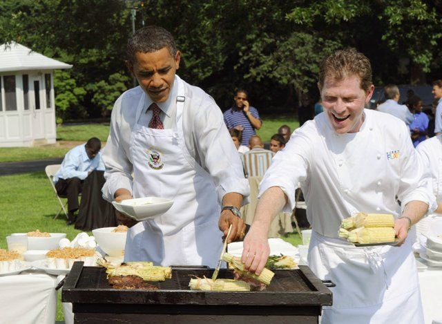 Barack Obama cooking