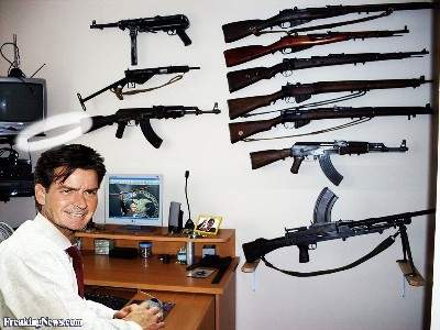 Charlie-Sheen Gun Collection