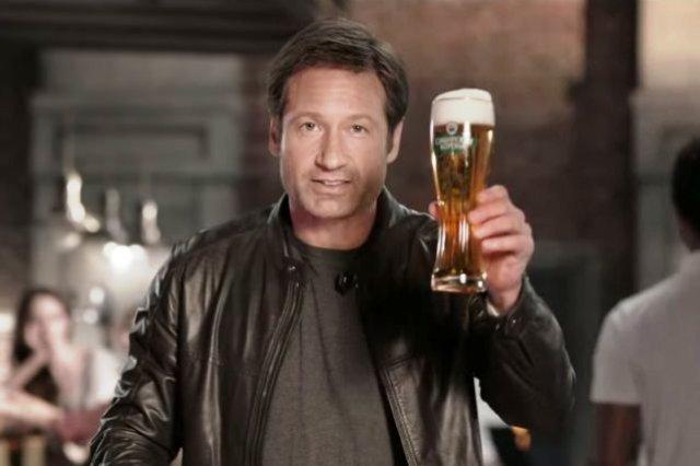 David Duchovny beer commercial