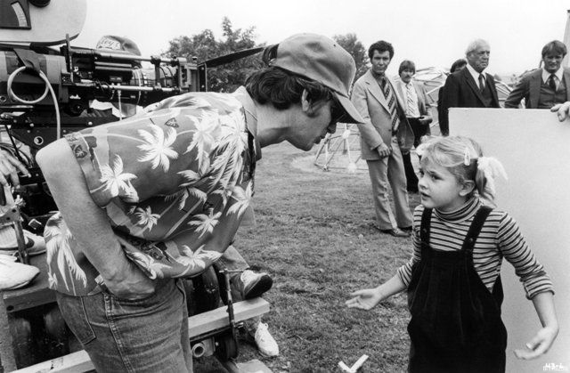 Drew Barrymore with Steven Spielberg
