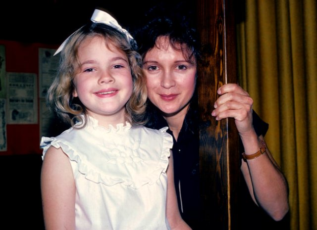 Drew Barrymore with her mother