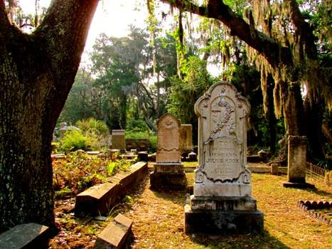 Graves in Camellia Terrace, Savannah, Georgia, United States