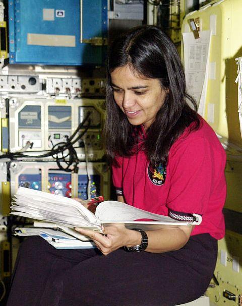 Kalpana Chawla studying