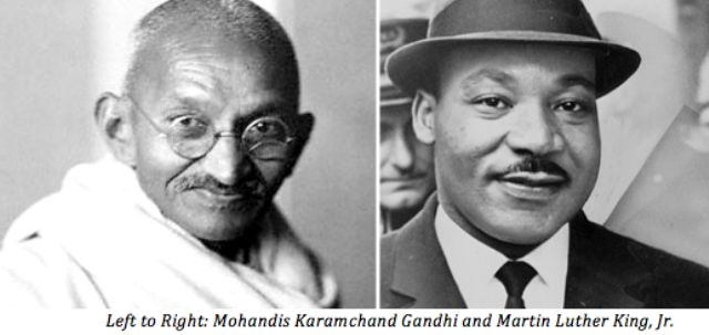 Mahatma Gandhi and Martin Luther King Jr-