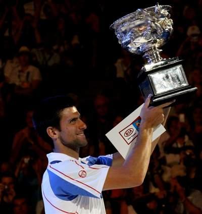 Novak Djokovic at the 2011 Australian Open
