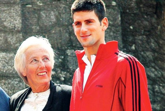 Novak Djokovic with his coach Jelena Gencic