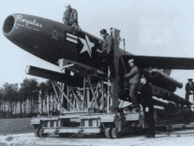 Regulus missile used to deliver mail