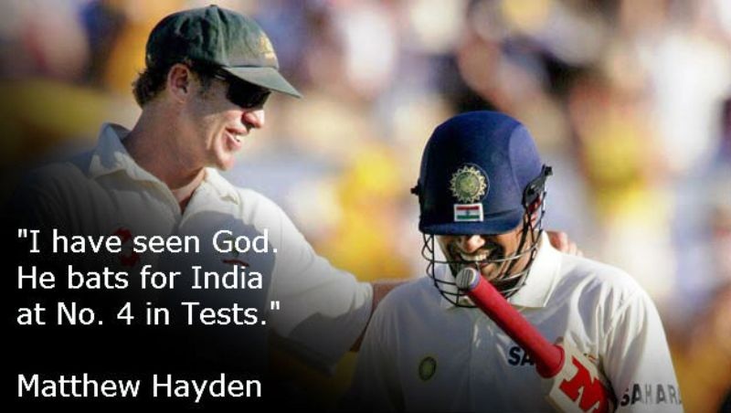 Sachin Tendulkar's Batting Position Number 4