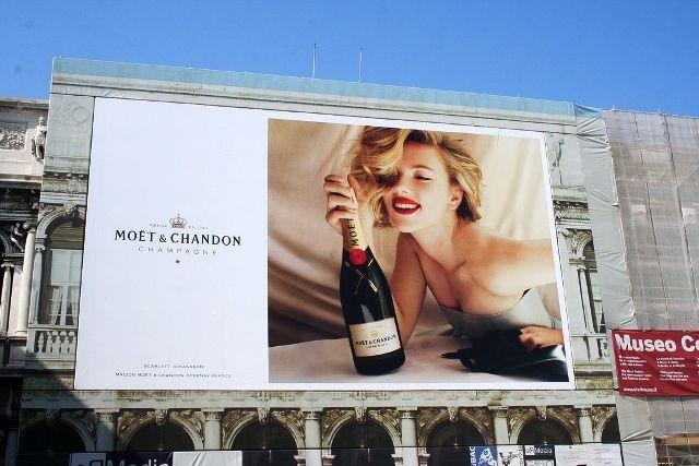 Scarlett Johansson billboard ad