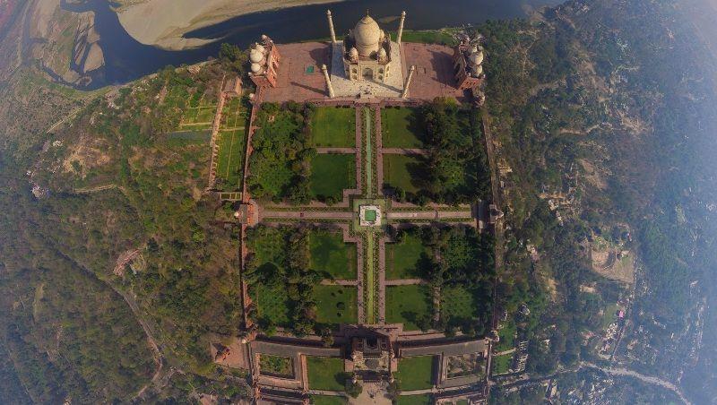 Taj Mahal Aerial View