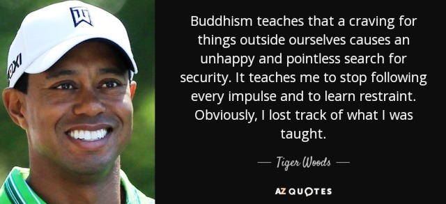 Tiger Woods on Buddhism