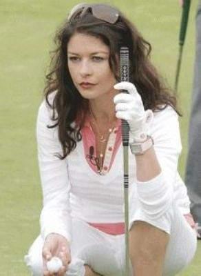 catherine zeta jones playing golf