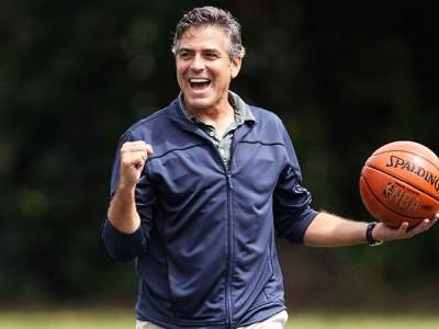 clooney playing basketball