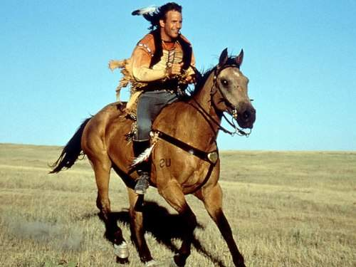 kevin costner horse riding