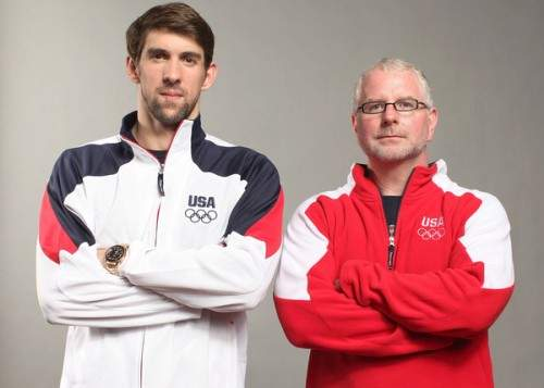 michael phelp with coach