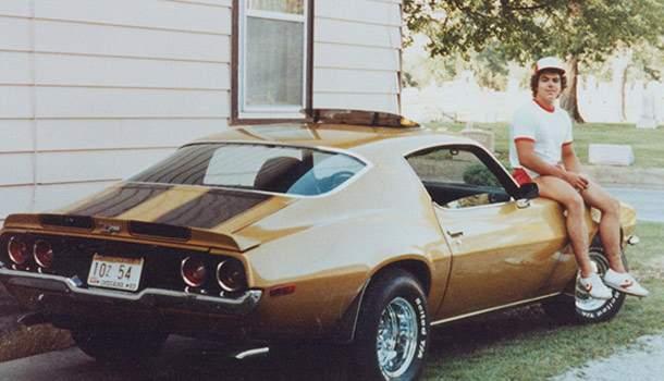 papa john & his car