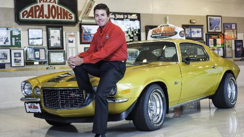john schnatter with his beloved car