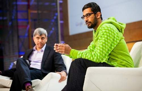sundar pichai with larry page