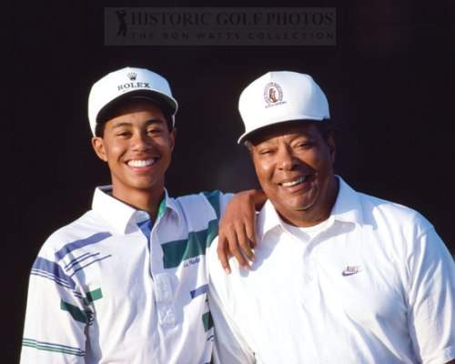 tiger woods with father