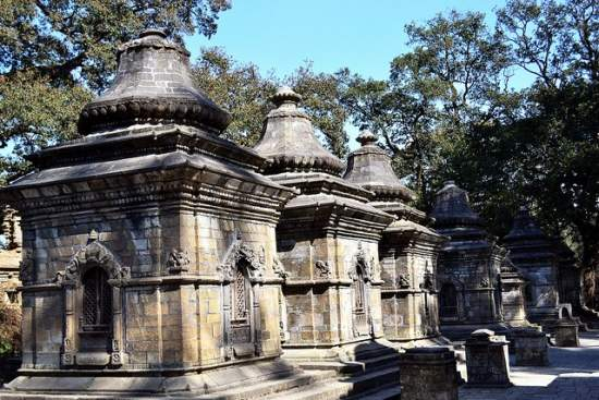 A row of temples at Pashupatinath