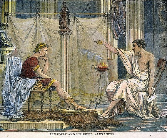 Aristotle Teaching Alexander