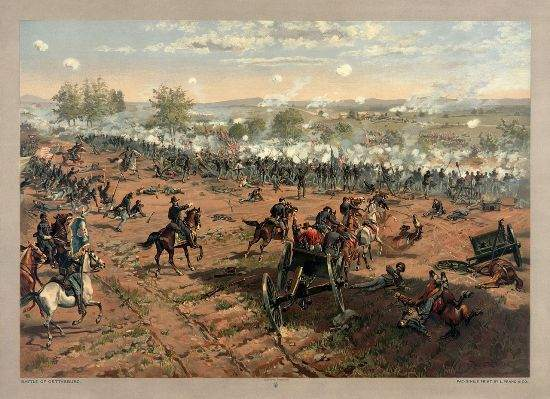 Battle of Gettysburg, civil war