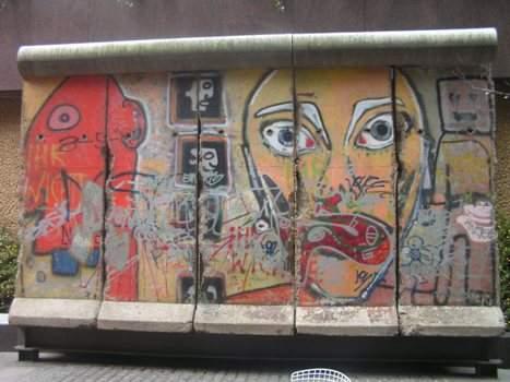 Berlin Wall piece in New York