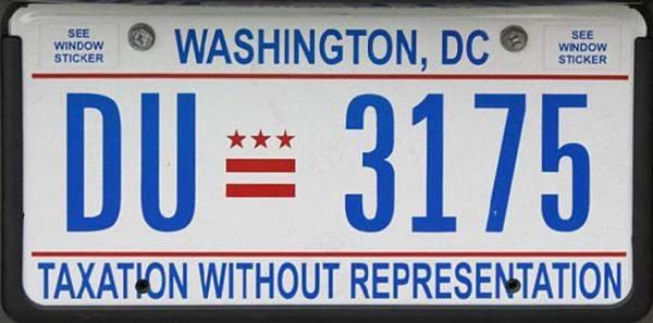 D.C car plates