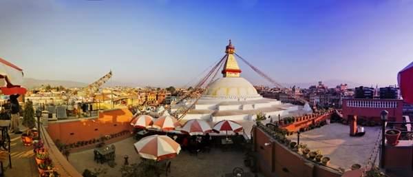 Kathmandu Bodhnath panorama