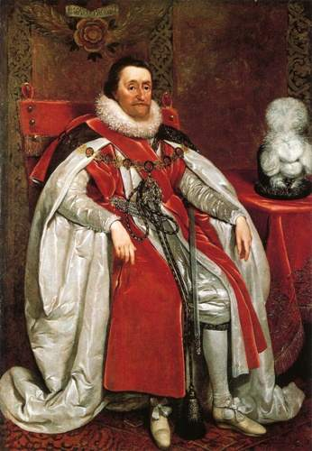King James I of England by Daniel_Mytens