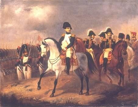 Napoleon at the battlefield