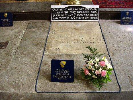 Shakespeare grave -Stratford upon Avon