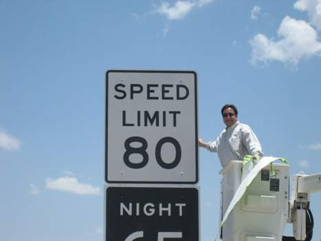 Texas 80 mph speed limit