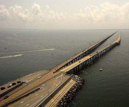 The Chesapeake Bay Bridge Tunnel