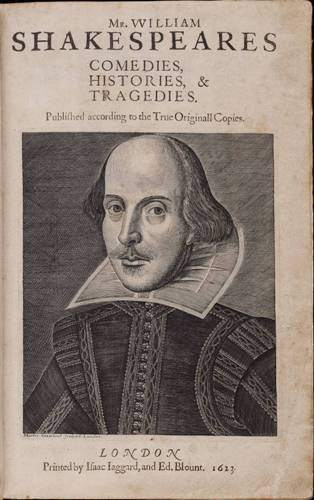 William Shakespeare's First Folio 1623