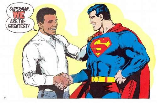 superman with muhammad ali