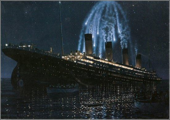 titanic distress flares