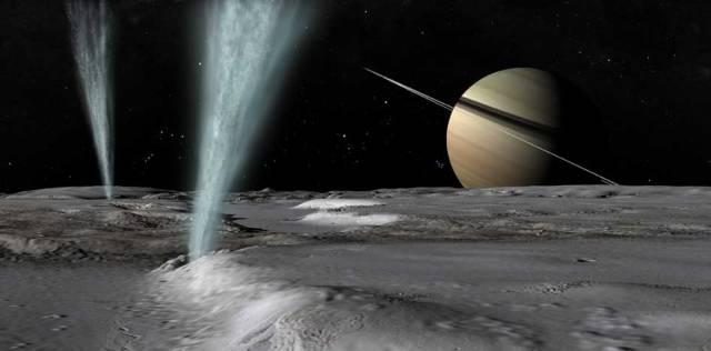 water on Saturn Moon