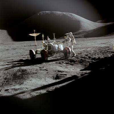 Apollo 15 Rover, Irwin, moon