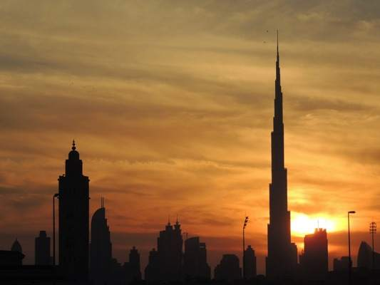 Burj Khalifa, sunset