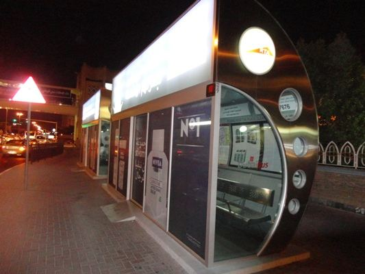 Bus stops in Dubai